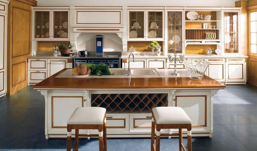 Cucina laccata in tiglio in stile veneziano FORTUNA - GD ...