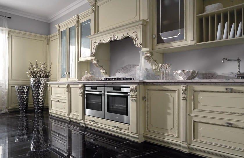 Cucina laccata foglia argento in stile veneziano SERENISSIMA - GD ...