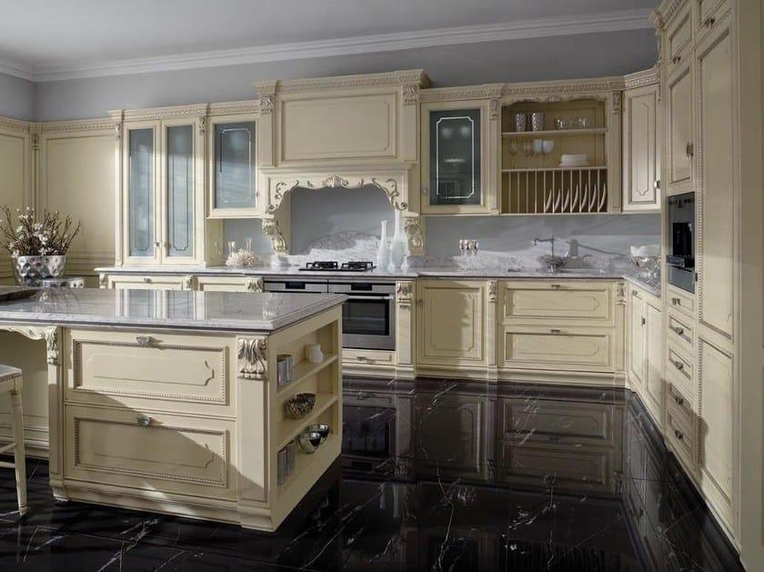 Cucina laccata foglia argento in stile veneziano SERENISSIMA By GD ...