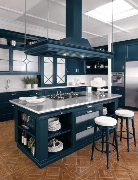 American Style Lacquered Solid Wood Kitchen Park Avenue By Gd Arredamenti