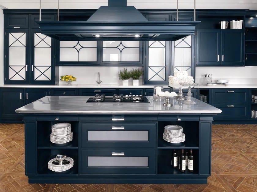 Cucina laccata in legno massello in stile americano PARK ...