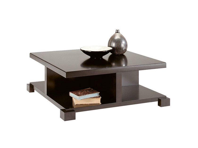 Low square wooden coffee table DOWNTOWN | Coffee table by SELVA