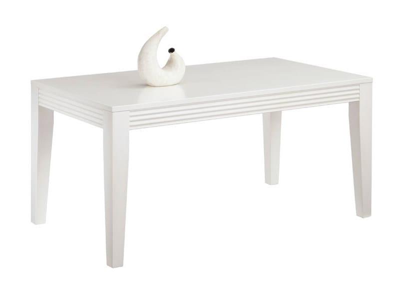 Rectangular wooden dining table LUNA | Rectangular table by SELVA