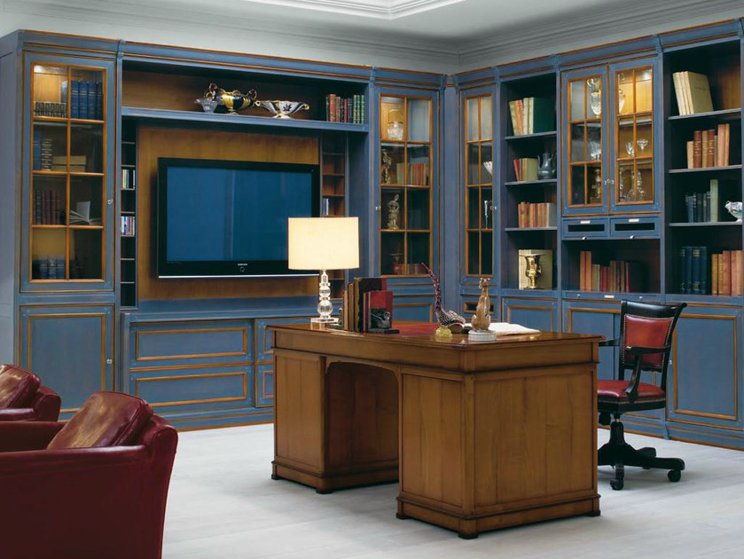 Venetian style solid wood TV wall system LE STANZE DEL DOGE | TV wall system by GD Arredamenti