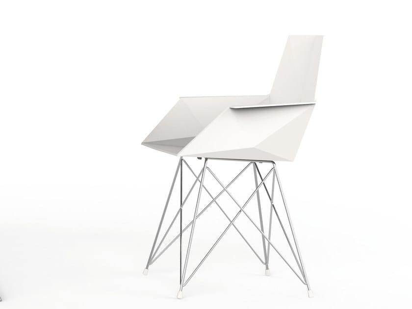 Polypropylene garden chair with armrests FAZ | Polypropylene chair by VONDOM