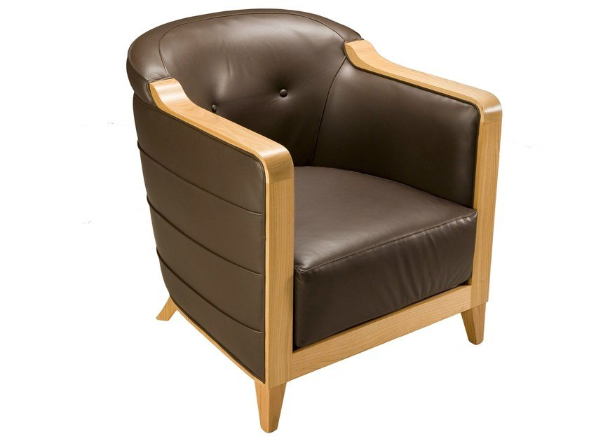 Leather armchair MILANO | Armchair by Morelato