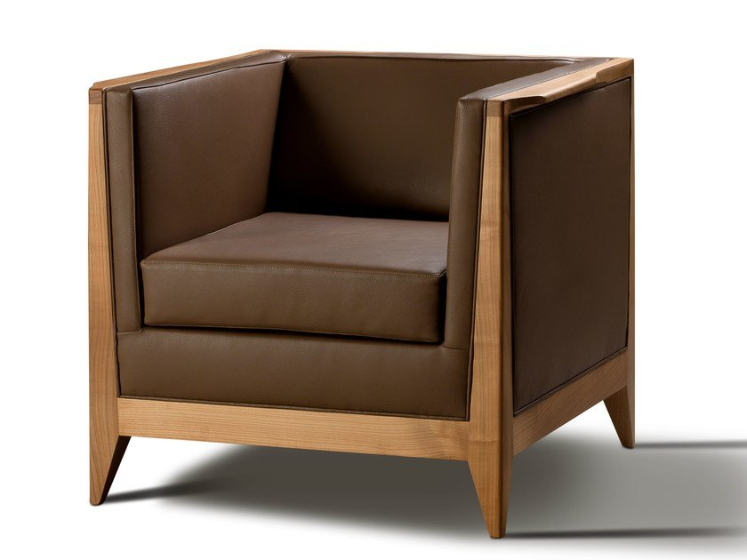 Leather armchair TORINO | Armchair by Morelato
