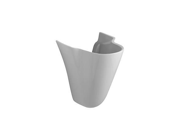 Semipedestal FEDERICA | Washbasin pedestal by Olympia Ceramica