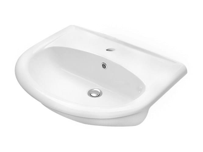 Semi-inset washbasin FEDERICA | Semi-inset washbasin by Olympia Ceramica
