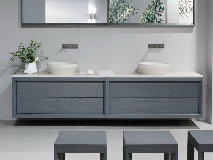 TRAY | Mobile lavabo doppio By GD Arredamenti design Enzo Berti