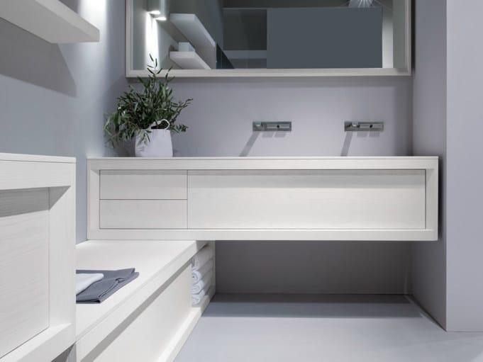 Double lacquered ash vanity unit IMPOUND   Double vanity unit by GD Arredamenti