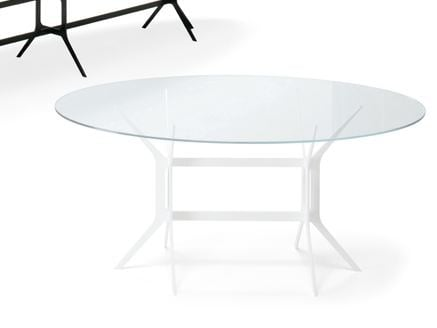 Oval crystal table ARABESQUE | Oval table by YDF