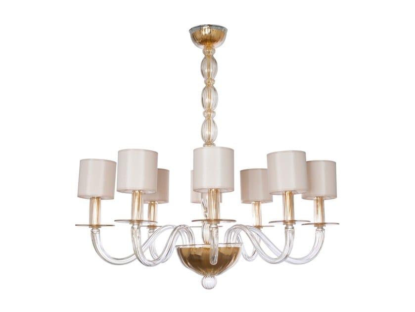 Handmade Murano glass pendant lamp OLYMPIA by Veronese
