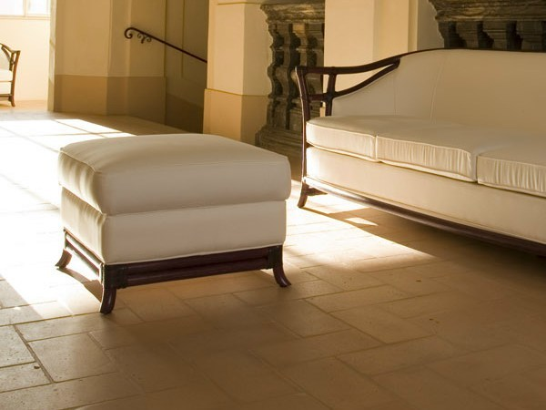 Upholstered rattan pouf IRIS | Pouf by Dolcefarniente