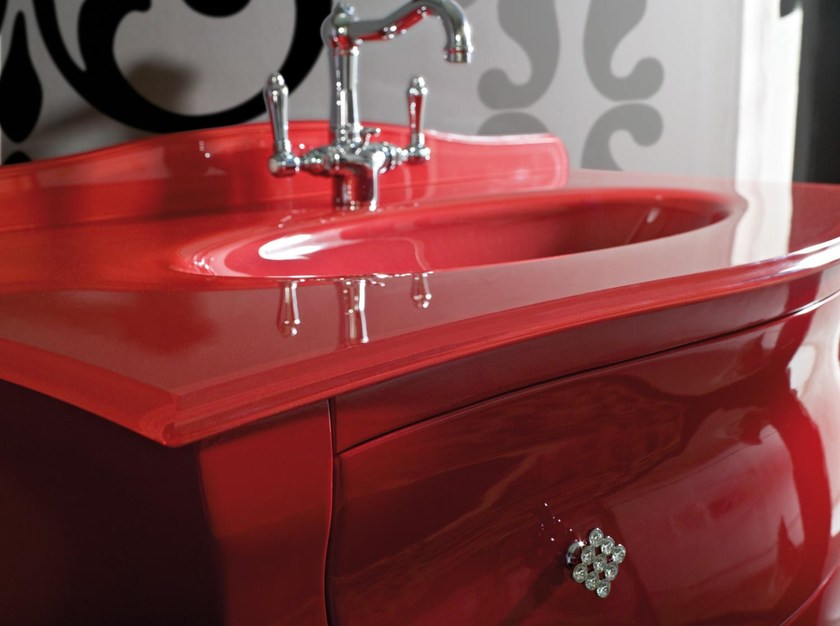 Classic style lacquered vanity unit with drawers BELLAGIO 22 by LASA IDEA