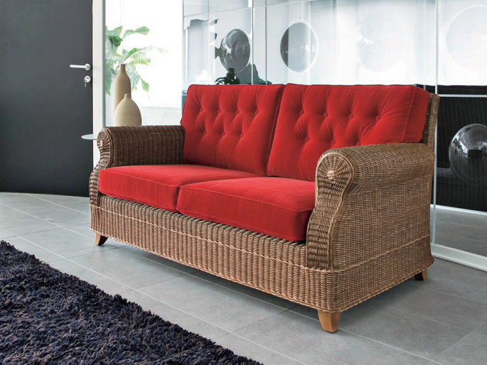 2 seater woven wicker sofa ROYAL   2 seater sofa by Dolcefarniente