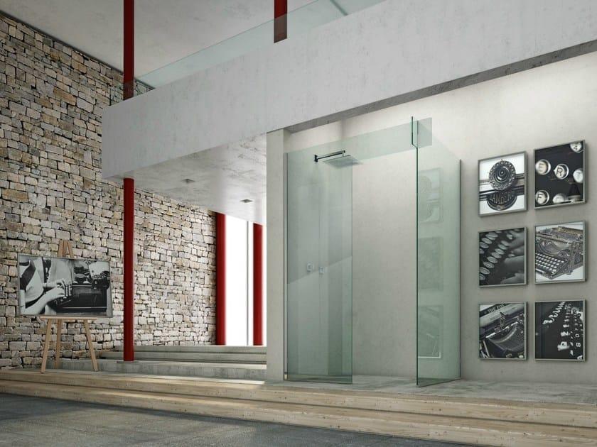 Corner glass shower cabin ICONA SEPARÈ CORNER by MEGIUS