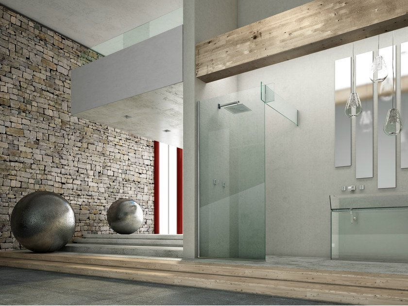 Corner glass shower cabin ICONA SEPARÈ CORNER by MEGIUS