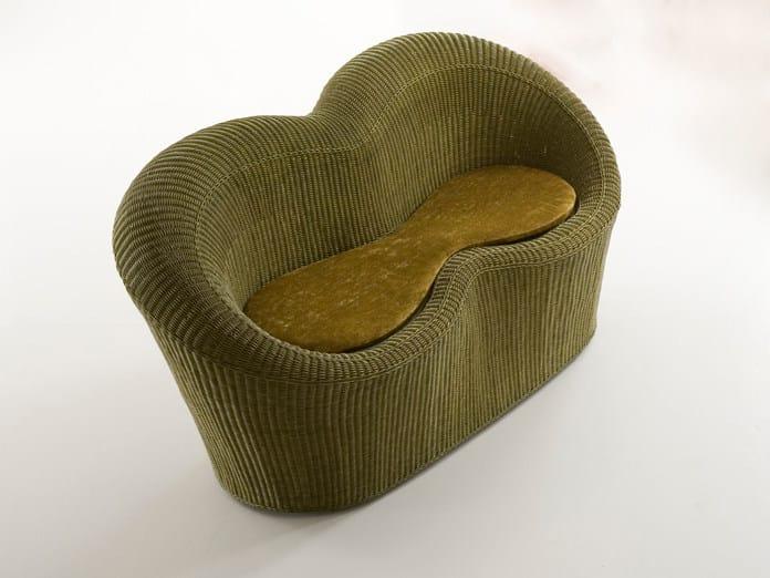 Woven wicker small sofa GIADA | Small sofa by Dolcefarniente