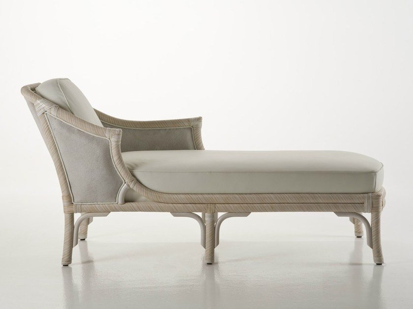 Upholstered rattan day bed LUISA by Dolcefarniente