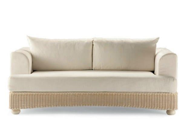 3 seater woven wicker sofa LEDA   3 seater sofa by Dolcefarniente