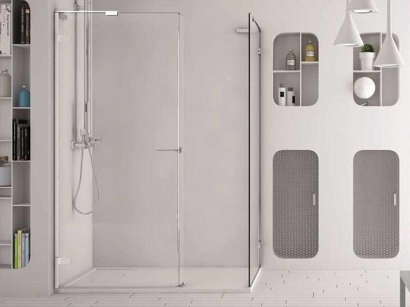 Corner glass shower cabin SOFTGLASS FS1+FS2 by MEGIUS