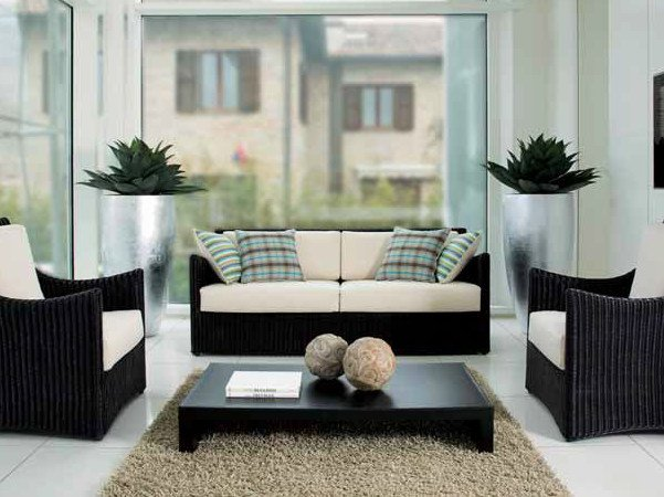 3 seater woven wicker sofa STEPHANY | 3 seater sofa by Dolcefarniente