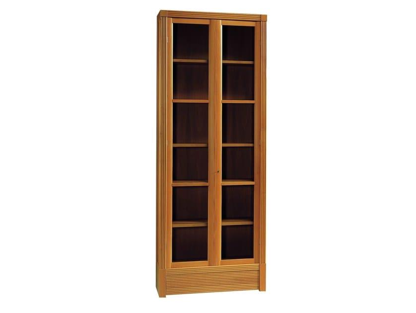 Modular wood and glass bookcase BIBLIOTECA | Modular bookcase by Morelato