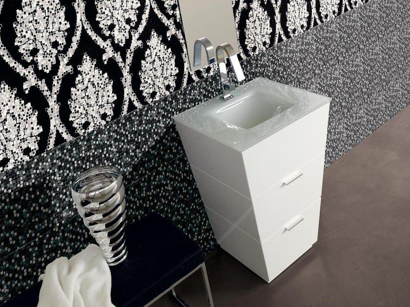 Lacquered single vanity unit with drawers LIBECCIO 11 by LASA IDEA