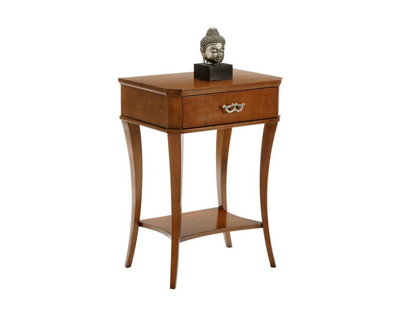Wooden bedside table with drawers GAIA by SELVA