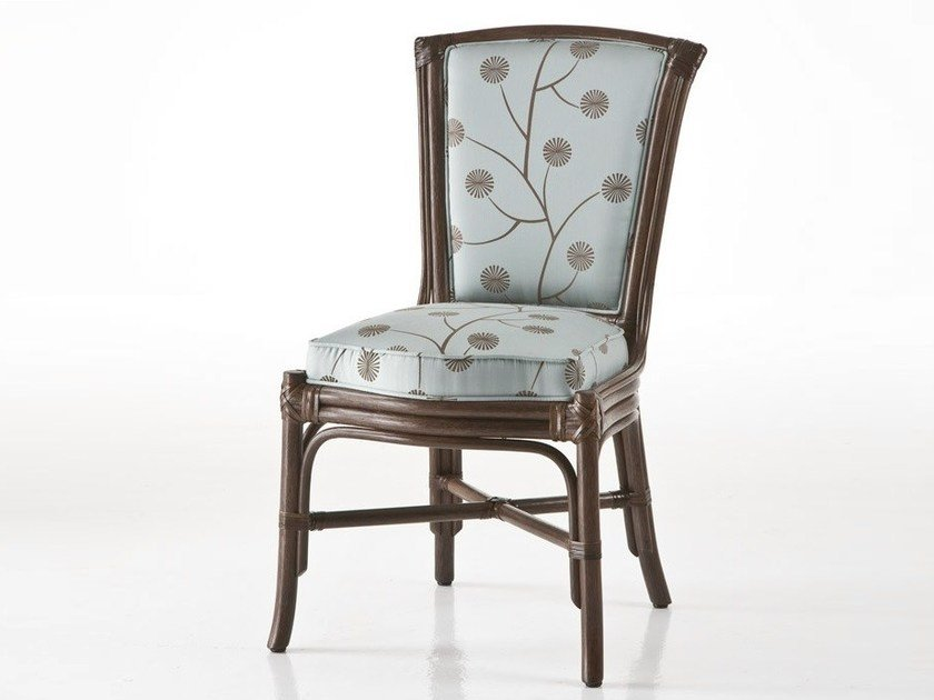 Upholstered rattan chair OLYMPIA | Chair by Dolcefarniente