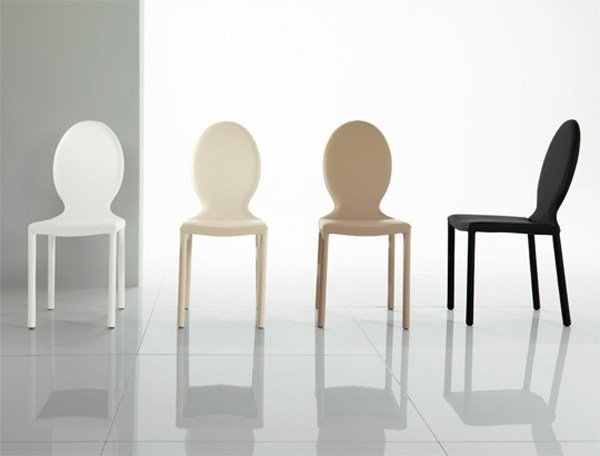 Design leather chair ANNA | Leather chair by RIFLESSI