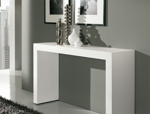 Rectangular wooden console table BRIDGE by RIFLESSI