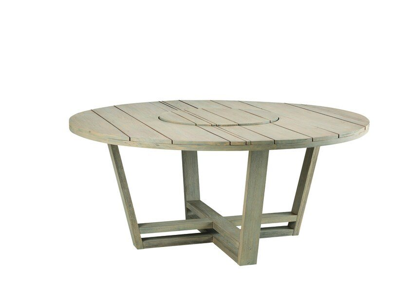 Round Garden Table With Lazy Susan Costes By Ethimo