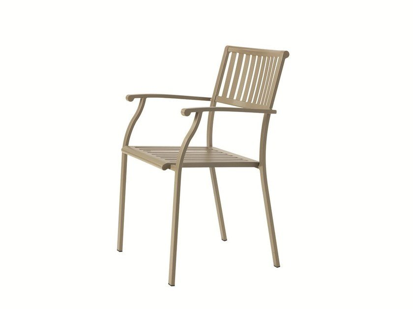 Stackable garden chair with armrests ELISIR | Chair with armrests by Ethimo