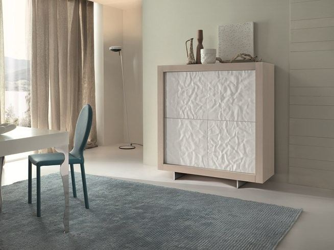 Wooden highboard with doors PICASSO P2 MITO by RIFLESSI
