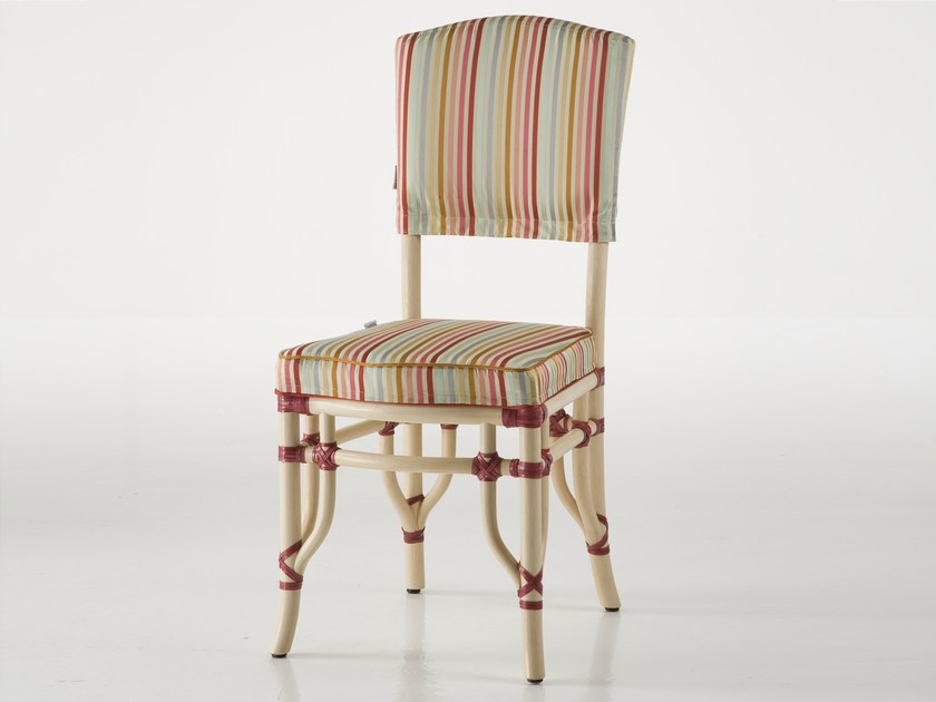 Upholstered rattan chair DORIAN | Chair by Dolcefarniente