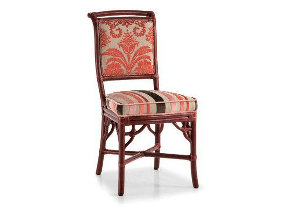 Upholstered rattan chair GIULIANA | Chair by Dolcefarniente