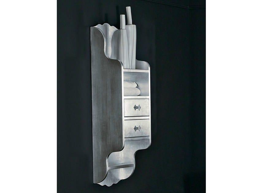 Classic style silver leaf bathroom wall cabinet with drawers BELLAGIO | Bathroom wall cabinet by LASA