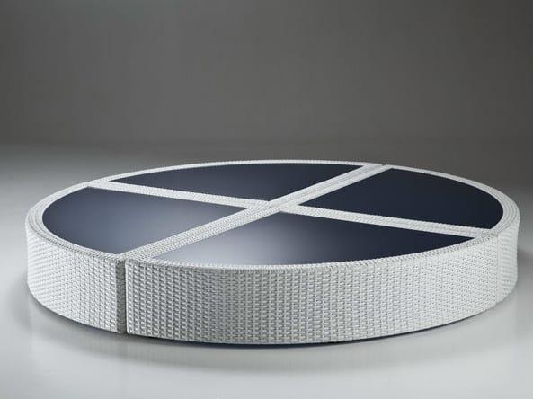 Low Round resin garden side table BAHIA | Garden side table by Dolcefarniente