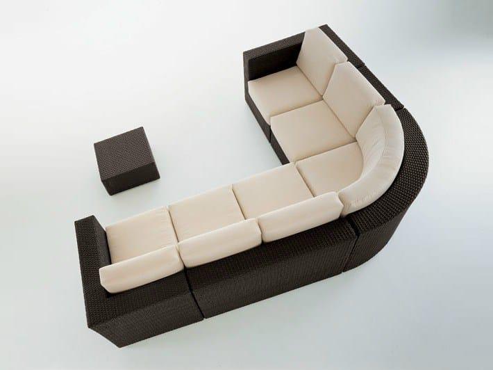 Sectional resin sofa BAHIA | Sectional sofa by Dolcefarniente