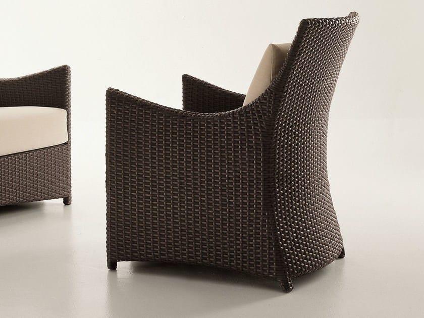 High-back resin garden armchair SCAURI | Garden armchair by Dolcefarniente
