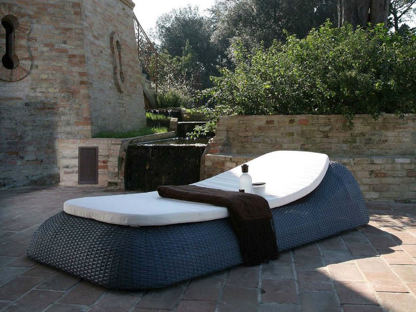 Resin garden daybed ISCHIA   Garden daybed by Dolcefarniente