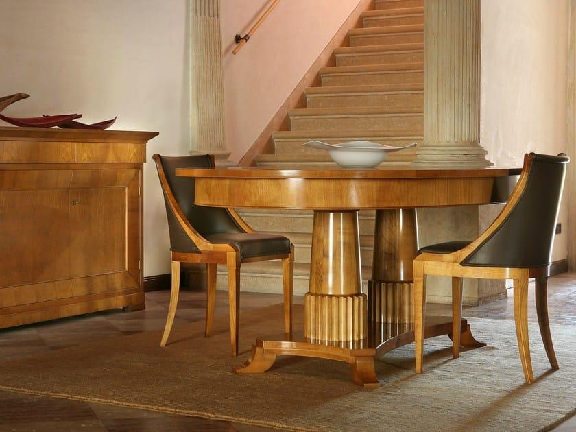 Extending oval cherry wood table TAVOLO BIEDERMEIER | Oval table by Morelato
