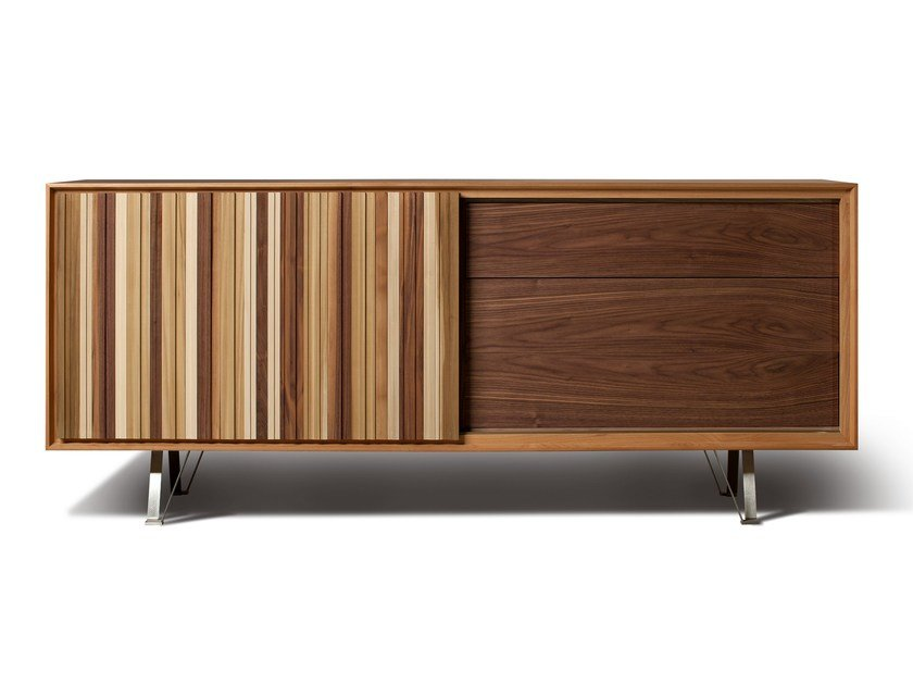 Cherry wood sideboard with sliding doors SIPARIO | Sideboard with sliding doors by Morelato