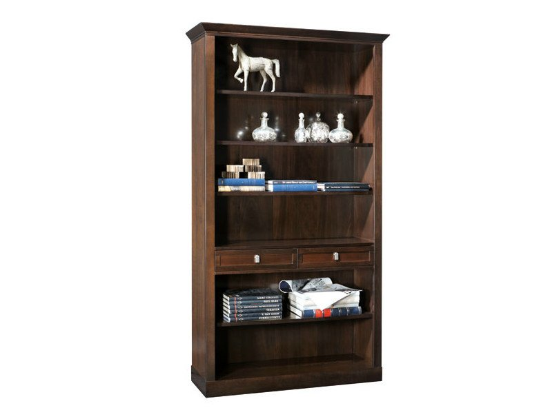 Open wooden bookcase with drawers SOPHIA | Bookcase by SELVA