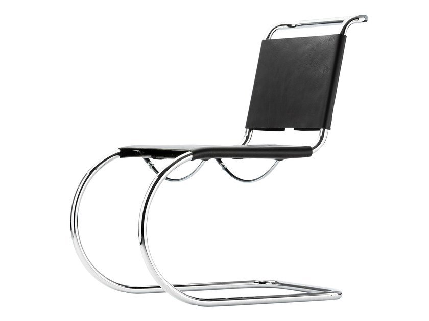 Cantilever leather chair S533 | Cantilever chair by THONET