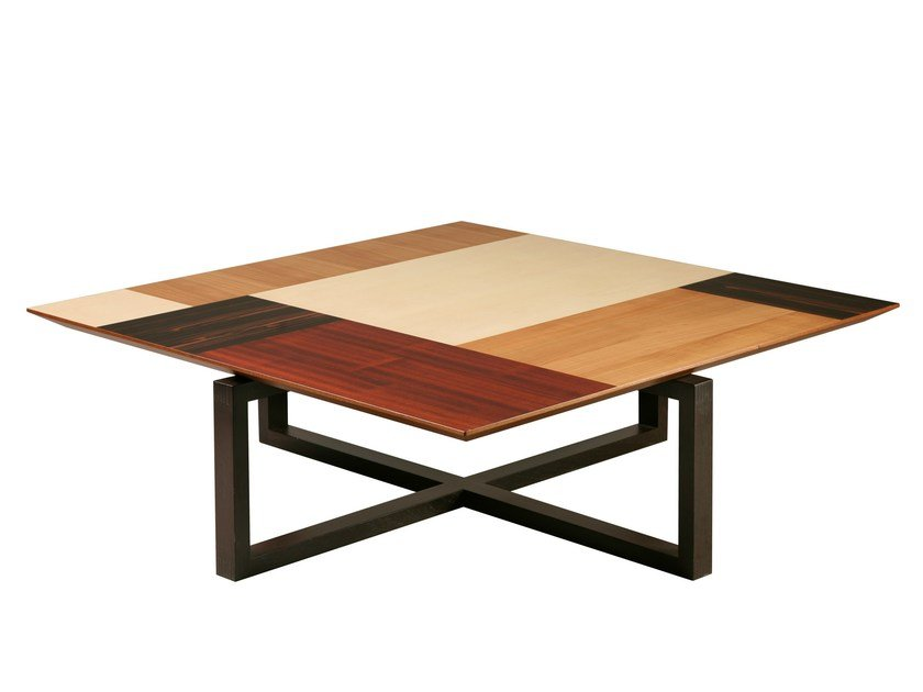 Low square wenge coffee table PATCHWORK | Square coffee table by Morelato