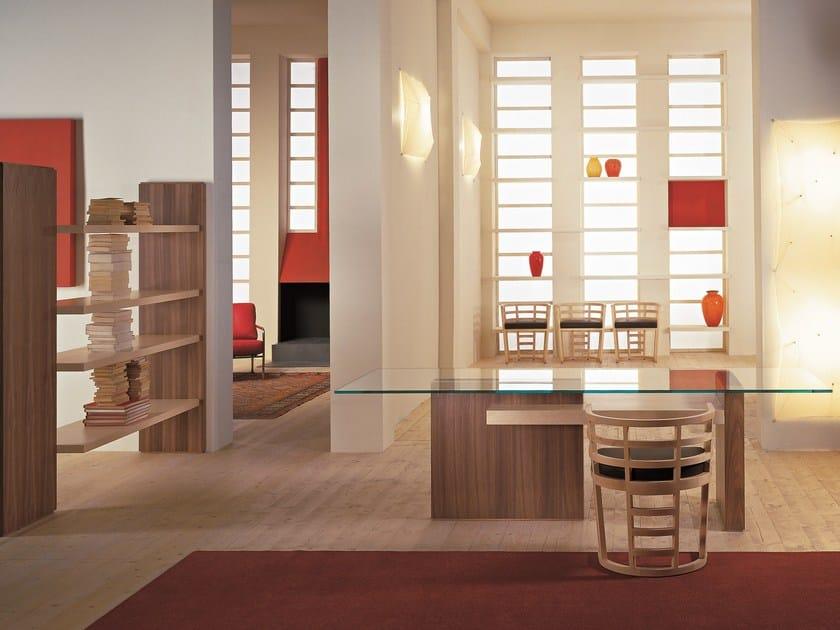 Rectangular glass table CARTESIA | Glass table by Morelato
