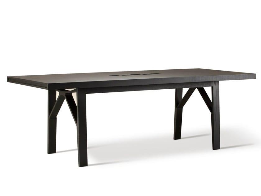 Rectangular ash table CAMPO by Morelato